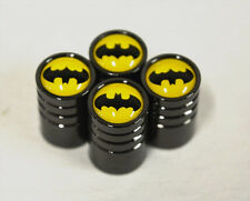 Black Chrome Car Wheel Tyre Tire Air Valve Caps Stem Cover With Batman Emblem