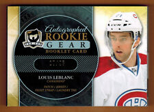 2011-12 ,UPPER DECK , THE CUP , LOUIS LEBLANC , AUTO ROOKIE GEAR , BOOKLET , /25