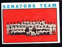 1964 TOPPS #343 WASHINGTON SENATORS TEAM CARD