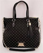 Juicy Couture Black Quilted Tote Shoulder Bag EXTRA WALLET