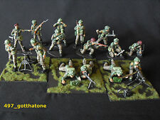 Airfix 1/32 converted and pro-painted British paratroops ww2 . mortar crew etc.