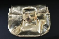 JUICY COUTURE CLUTCH GOLD LEATHER BAG STYLISH