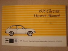 Original 1976 CHEVETTE Owners Service & Do-it-Yourself Manual Booklets