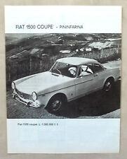 E347-Advertising Pubblicità-1965 - FIAT 1500 COUPE' PININFARINA