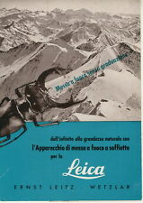 LEITZ soffietto UXOOR - Depliant 1951
