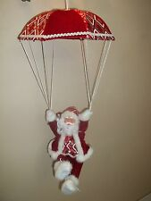 "24"" Red/White Animated Musical Santa w/ Parachute~ Battery Operated NEW!"