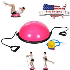 """NEW Pink 23"""" Inch Bosu Balance Ball Trainer Yoga Fitness with Pump Free Shipping"""