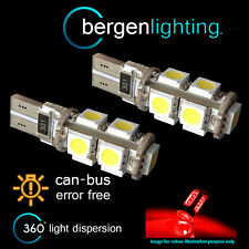 2X W5W T10 501 CANBUS ERROR FREE RED 9 LED COURTESY LIGHT BULBS HID IL101701