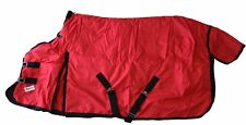 600D Winter Horse Blanket Turnout Medium Weight Water Proof Rip Stop Red Size 80