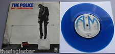 "The Police - Can't Stand UK A&M Blue Vinyl 7"" P/S ""Police"" label text"