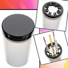 Nail Art Brush Cleaner Holder UV Acrylic Gel Pen Pot Cleanser Cup Bottle Tool DS