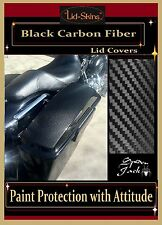 *Saddle Bag Lid Covers Harley-Davidson Blk Carbon Fib Touring 94-2013 Saddlebags