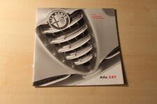 00372) Alfa Romeo 147 - Preise & Extras - Prospekt 12/2001