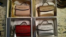 NWT In Box $58 Michael Kors Ava Key Fob Bag Charm Coin Purse! pick 1  OR BUY ALL