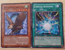 Yu-gi-oh! crystal beast cobalt eagle, sort carte crystal blessing 1st editions