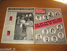 SORRISI E CANZONI=1957/20=FESTIVAL CANZONE NAPOLI=CLAUDIO VILLA=
