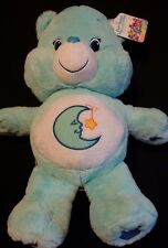 "CARE BEARS Jumbo 20"" Baby Blue BEDTIME BEAR Moon Star Night Soft Stuffed Toy"