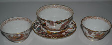 ROYAL CROWN DERBY ''OLDE AVESBURY'' SET OF THREE BOWLS AND SMALL PLATE