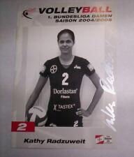 CARTE VOLLEYBALL - TSV BAYER LEVERKUSEN - KATHY RADZUWEIT / SIGNE
