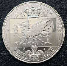 1830 Wales Retro Pattern Proof Crown Nickel Silver  William IV  Coin
