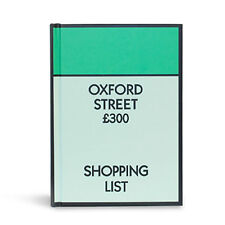 Monopoly Notebook Oxford Street Shopping List Lined Brand New Novelty Gift A6