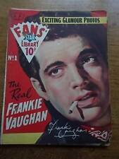 Vtg No 1 Magazine 1958 Fans Star Library Exciting Glamour Photos FRANKIE VAUGHAN