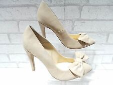 CLEARANCE Ladies ALDO CHARPING Beige Suede Bow Court Shoes RRP £65 UK 4 EU 37