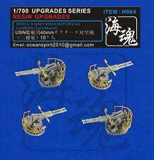 OceanSprite H064 1/700 WWII U.S Navy 40mm Bofors AA Cannon(Twin Mount)
