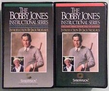 bobby jones volume one THE FULL SWING / two FROM TEE TO GREEN  VHS VIDEOTAPE LOT