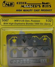 CMK 1/32 WWII US Gen. Purpose M44 High Explosive Bombs 1000lbs x 2 # 5067
