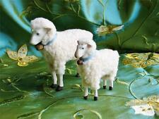 Bethany Lowe Pair of Putz Sheep Lambs Christmas Easter