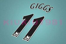 Manchester United Giggs #11 PREMIER LEAGUE 97-06 Black Name/Number Set