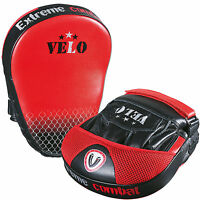 VELO Leather Focus Pads,Hook and Jab MMA Boxing Kick Curved Mitt Glove Thai Muay
