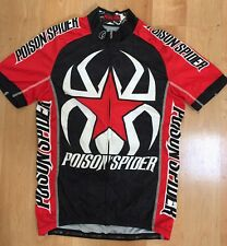 Pearl Izumi POISON SPIDER Moab Cycling Jersey SMALL Race Red Black MSRP $100