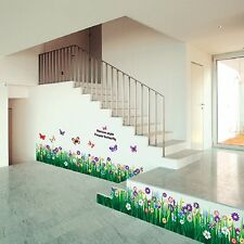 170cm*45cm Butterfly Grass Flower Removable Wall Sticker Decal Mural Home Decor