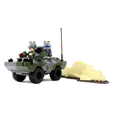 Light Armored Vehicle with 3 Soldier Minifigures - Military Building Block Toy