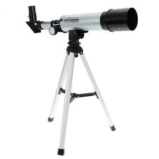 360x50 Refractive Astronomical Telescope Monocular Spotting Scope+Tripod Silver