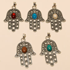 WHOLESALE LOT 5 PICS. 925 STERLING SILVER PLATED PENDANT JEWELLERY.