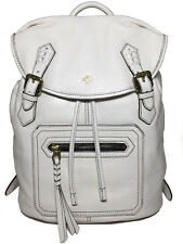 NWT orYANY Jaylin Flap-Top Leather Back Pack White Color