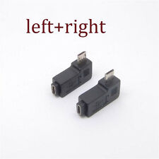 2PCS 90 Degree Left&right Angle Micro USB B Male to Female Plug Adapters charger