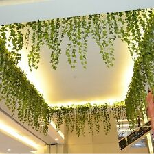 8.2feet Green Artificial Hanging Ivy Leaf Leave Garland Vine Fake Foliage