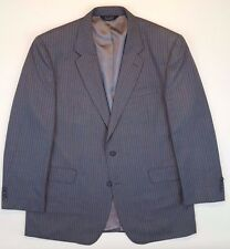 JOS a BANK Suit 48L Gray PINSTRIPE Wool MENS 2 Button LINED Vented SIZE Sz MAN**