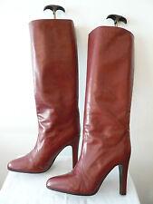 """Bottes Vintage Sexy  1982  """" Bordeaux-Rouge """"   --  """"SYLVIE"""" 2  ---   T.40"""
