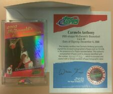 2006 TOPPS eTOPPS CARMELO ANTHONY 2002 McDONALD'S ALL AMERICAN AUTO MINT KNICKS
