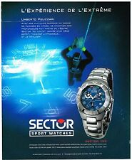 Publicité Advertising 2000 La Montre Sector 750 avec Umberto Pelizzari