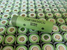 168  Panasonic CGR18650CG  2.25Ah Lithium Ion rechargeable battery cells
