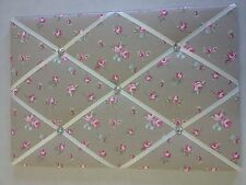 Clarke & Clarke Rosebud Fabric Pin/memo/Notice Board 60x40cm Shabby Chic Choice