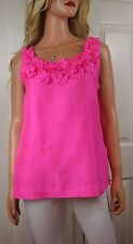 Kate Spade Primrose Sugar Beach 3D Floral Silk Tank  Size Medium Pink