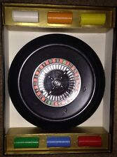 Vintage Pleasantime ROULETTE GAME wheel chips and cloth EUC
