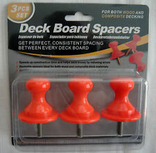 Deck Board Spacers - Evenly Spaces Boards For Wood & Composite - 3 Piece Set